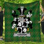 1stScotland Premium Quilt - Codden Or Mccodden Irish Family Crest Quilt - Irish National Tartan A7
