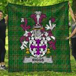 1stScotland Premium Quilt - Riggs Irish Family Crest Quilt - Irish National Tartan A7