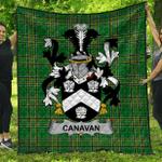 1stScotland Premium Quilt - Canavan Or O'Canavan Irish Family Crest Quilt - Irish National Tartan A7