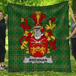 1stScotland Premium Quilt - Brennan Or O'Brennan Irish Family Crest Quilt - Irish National Tartan A7