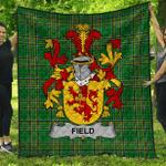 1stScotland Premium Quilt - Field Irish Family Crest Quilt - Irish National Tartan A7