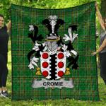 1stScotland Premium Quilt - Cromie Irish Family Crest Quilt - Irish National Tartan A7