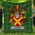1stScotland Premium Quilt - Farren Or O'Farren Irish Family Crest Quilt - Irish National Tartan A7