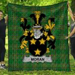 1stScotland Premium Quilt - Moran Or O'Moran Irish Family Crest Quilt - Irish National Tartan A7