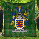 1stScotland Premium Quilt - Woodbourne Irish Family Crest Quilt - Irish National Tartan A7