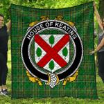 1stScotland Premium Quilt - House Of Keating Irish Family Crest Quilt - Irish National Tartan A7