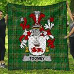 1stScotland Premium Quilt - Toomey Or O'Twomey Irish Family Crest Quilt - Irish National Tartan A7