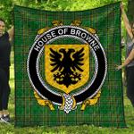 1stScotland Premium Quilt - House Of Browne Irish Family Crest Quilt - Irish National Tartan A7