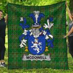 1stScotland Premium Quilt - Mcdowell Irish Family Crest Quilt - Irish National Tartan A7