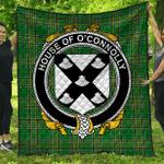 1stScotland Premium Quilt - House Of O'Connolly Irish Family Crest Quilt - Irish National Tartan A7