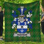 1stScotland Premium Quilt - Traynor Or Trainer Irish Family Crest Quilt - Irish National Tartan A7