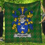 1stScotland Premium Quilt - Holland Irish Family Crest Quilt - Irish National Tartan A7