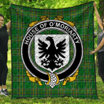 1stScotland Premium Quilt - House Of O'Moriarty Irish Family Crest Quilt - Irish National Tartan A7
