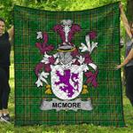 1stScotland Premium Quilt - Mcmore Or More Irish Family Crest Quilt - Irish National Tartan A7