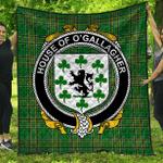 1stScotland Premium Quilt - House Of O'Gallagher Irish Family Crest Quilt - Irish National Tartan A7