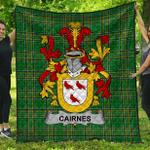 1stScotland Premium Quilt - Cairnes Irish Family Crest Quilt - Irish National Tartan A7