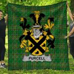 1stScotland Premium Quilt - Purcell Irish Family Crest Quilt - Irish National Tartan A7