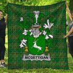 1stScotland Premium Quilt - Mcgettigan Or Gethin Irish Family Crest Quilt - Irish National Tartan A7