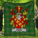 1stScotland Premium Quilt - Rowe Irish Family Crest Quilt - Irish National Tartan A7