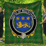 1stScotland Premium Quilt - House Of Macshanly Irish Family Crest Quilt - Irish National Tartan A7