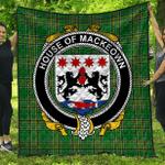 1stScotland Premium Quilt - House Of Mackeown Irish Family Crest Quilt - Irish National Tartan A7