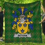 1stScotland Premium Quilt - Betham Irish Family Crest Quilt - Irish National Tartan A7