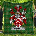 1stScotland Premium Quilt - Garvey Or O'Garvey Irish Family Crest Quilt - Irish National Tartan A7