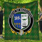 1stScotland Premium Quilt - House Of Macsheehy Irish Family Crest Quilt - Irish National Tartan A7