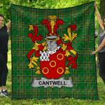 1stScotland Premium Quilt - Cantwell Irish Family Crest Quilt - Irish National Tartan A7