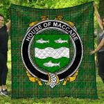 1stScotland Premium Quilt - House Of Maccabe Irish Family Crest Quilt - Irish National Tartan A7