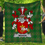 1stScotland Premium Quilt - Mohun Or Mohan Irish Family Crest Quilt - Irish National Tartan A7