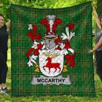 1stScotland Premium Quilt - Mccarthy Irish Family Crest Quilt - Irish National Tartan A7