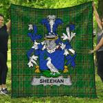 1stScotland Premium Quilt - Sheehan Or O'Sheehan Irish Family Crest Quilt - Irish National Tartan A7