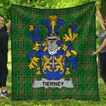 1stScotland Premium Quilt - Tierney Irish Family Crest Quilt - Irish National Tartan A7