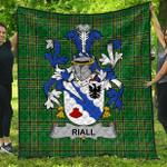 1stScotland Premium Quilt - Riall Or Ryle Irish Family Crest Quilt - Irish National Tartan A7