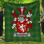 1stScotland Premium Quilt - Mcnamara Irish Family Crest Quilt - Irish National Tartan A7