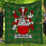1stScotland Premium Quilt - St.Michell Irish Family Crest Quilt - Irish National Tartan A7
