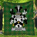 1stScotland Premium Quilt - Whight Irish Family Crest Quilt - Irish National Tartan A7