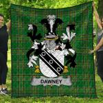 1stScotland Premium Quilt - Dawney Or Dawnay Irish Family Crest Quilt - Irish National Tartan A7