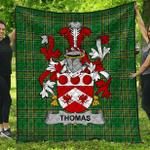 1stScotland Premium Quilt - Thomas Irish Family Crest Quilt - Irish National Tartan A7