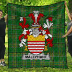 1stScotland Premium Quilt - Malaphant Irish Family Crest Quilt - Irish National Tartan A7