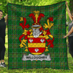 1stScotland Premium Quilt - Willoughby Irish Family Crest Quilt - Irish National Tartan A7