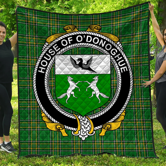 1stScotland Premium Quilt - House Of O'Donoghue Irish Family Crest Quilt - Irish National Tartan A7