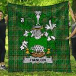1stScotland Premium Quilt - Hanlon Or O'Hanlon Irish Family Crest Quilt - Irish National Tartan A7