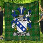 1stScotland Premium Quilt - Bernard Irish Family Crest Quilt - Irish National Tartan A7
