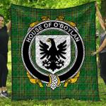 1stScotland Premium Quilt - House Of O'Boyland Irish Family Crest Quilt - Irish National Tartan A7
