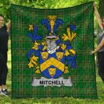 1stScotland Premium Quilt - Mitchell Irish Family Crest Quilt - Irish National Tartan A7