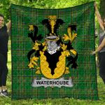 1stScotland Premium Quilt - Waterhouse Irish Family Crest Quilt - Irish National Tartan A7
