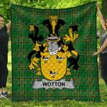 1stScotland Premium Quilt - Wotton Irish Family Crest Quilt - Irish National Tartan A7