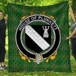 1stScotland Premium Quilt - House Of Plunkett Irish Family Crest Quilt - Irish National Tartan A7